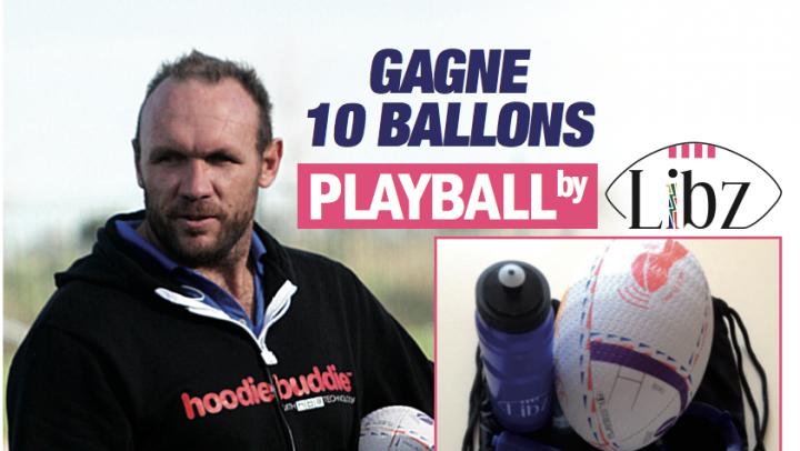 Jeu Playball by Libz : 10 ballons de Rubgy