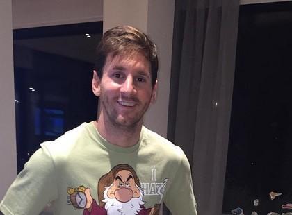 Lionel Messi s'affiche en pyjama Blanche-Neige sur Instagram !