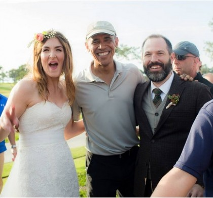 Barack Obama s'incruste et perturbe un mariage à San Diego