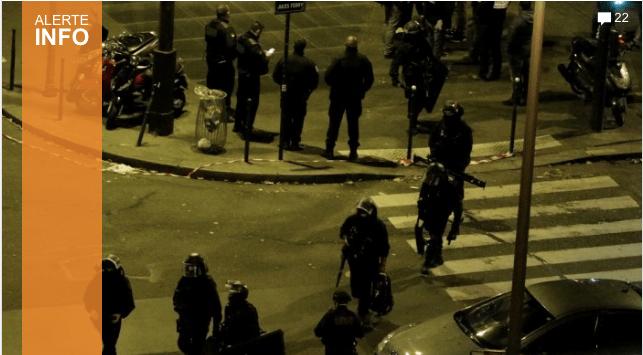 Six attaques ont touché Paris vendredi soir