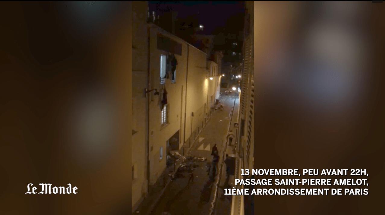 L'effroyable vidéo de gens fuyant du Bataclan