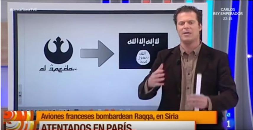 Un journaliste confond le logo Al-Qaïda avec celui de Star Wars !