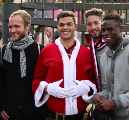 Vidéo : déguisé en Père Noël, Hatem Ben Arfa piège les Niçois