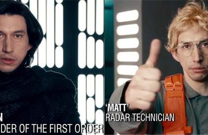 Vidéo : Kylo Ren de Star Wars joue le «patron incognito» dans une parodie hilarante