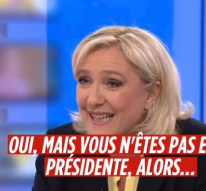 Vidéo : Marine Le Pen sévèrement taclée par une journaliste québecoise