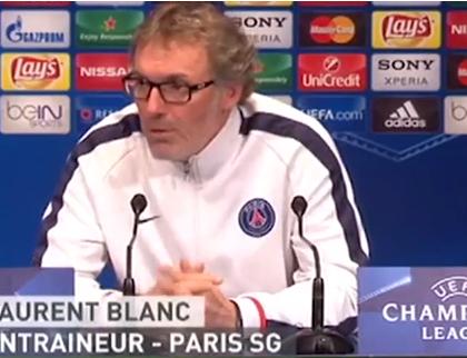 PSG-Manchester City : Laurent Blanc agacé par la question d'un journaliste