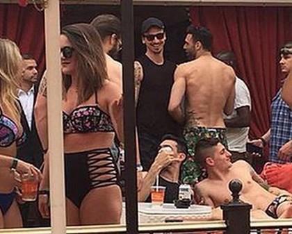 Photos : Ibrahimovic et des joueurs du PSG à Vegas pour fêter la Coupe de la Ligue