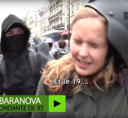 Vidéo : Une journaliste frappée en plein visage par un manifestant