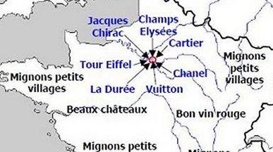 CARTE La France vue par différentes personne en mode LOL