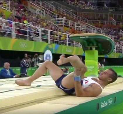 JO 2016 : l'effroyable fracture du gymnaste français Samir Aït-Saïd (vidéo)
