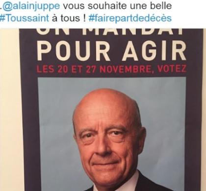 Toussaint : les réseaux sociaux se moquent de l'affiche d'Alain Juppé