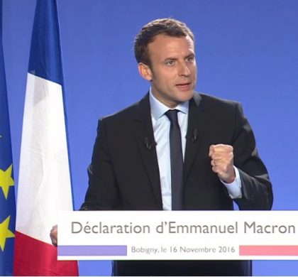 Emmanuel Macron annonce sa candidature à l'élection présidentielle