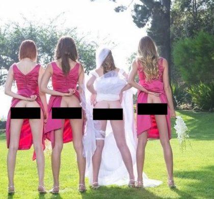 La folle mode des mariages : montrer ses fesses !