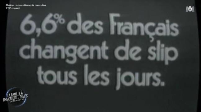 « 6,6% des Français changent de slip tous les jours »