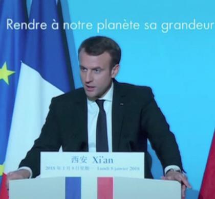 [Zap Actu] Emmanuel Macron en visite en Chine (09/01/2018)