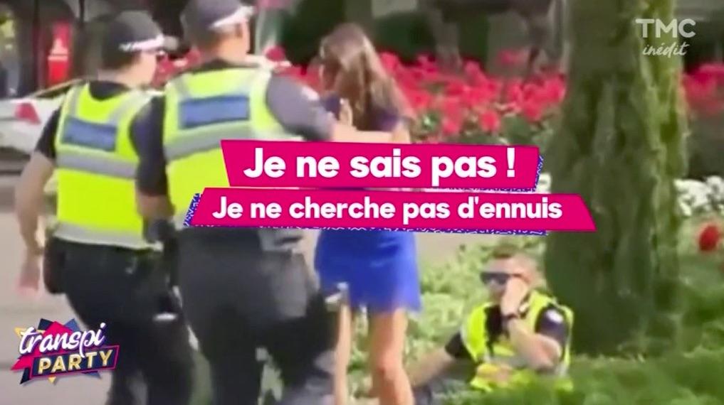 Une fêtarde ivre bouscule un Policier !!!