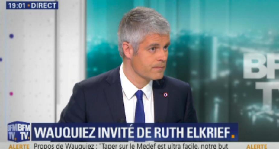 [Zap Actu] Laurent Wauquiez piégé par Quotidien, contre-attaque chez Ruth Elkrief (21/02/2018)