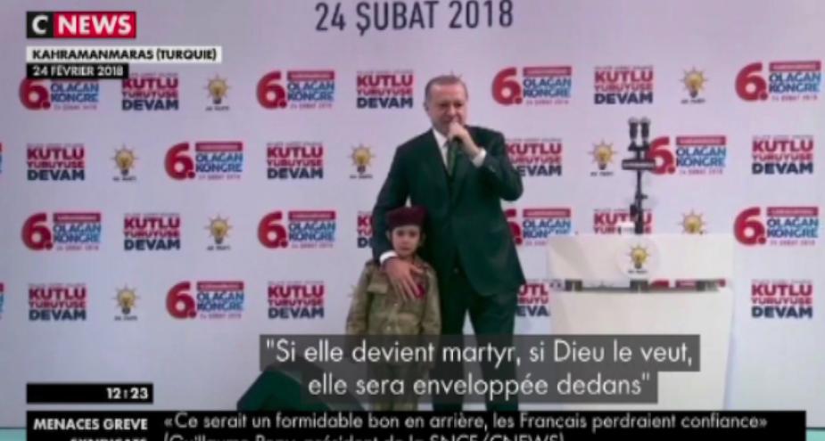 [Zap Actu] Erdogan crée la polémique en incitant une fillette à mourir en martyr (01/03/2018)