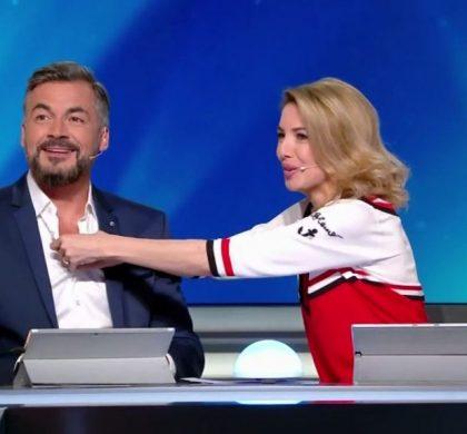 Sidonie Bonnec déboutonne la chemise d'Olivier Minne !